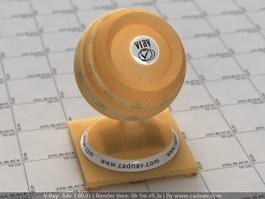 Bright Yellow Lampshade vray material
