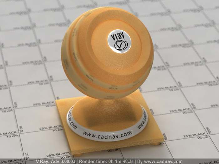 Bright Yellow Lampshade material rendering