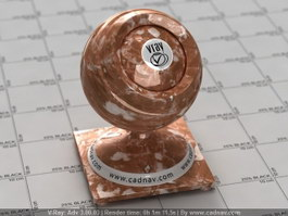 Red Brown Marble vray material