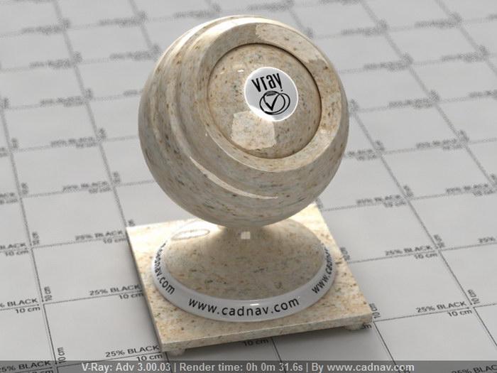 Gold Granite Slabs material rendering