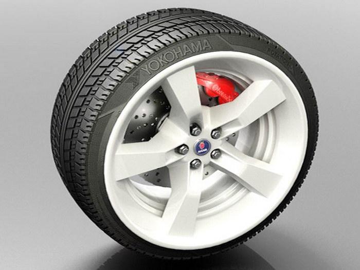 Yokohama Tire 3d rendering