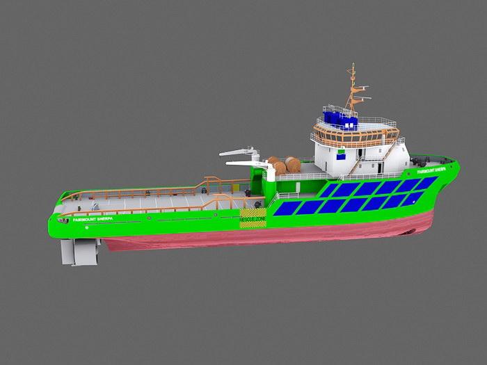 Tugboat 3d rendering