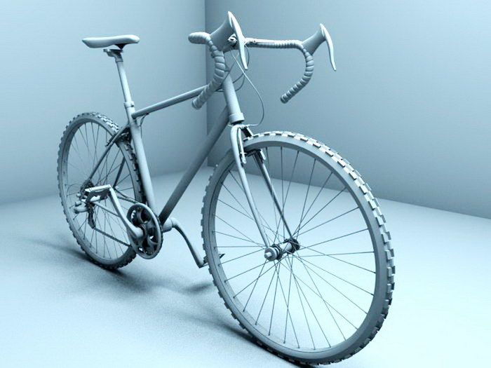 A Racing Bicycle 3d rendering