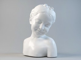 French Girl Bust Statue 3d preview