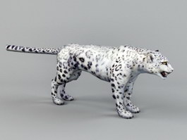 White Snow Leopard 3d preview