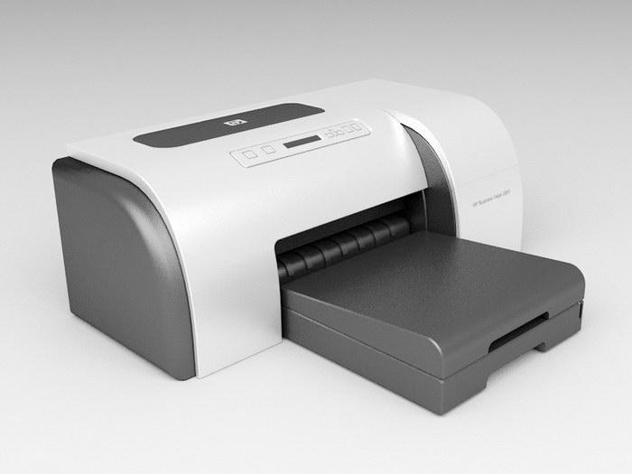 HP LaserJet Printer 3d rendering