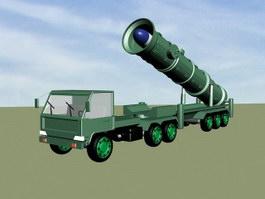DF-21 Carrier Killer Missile 3d preview