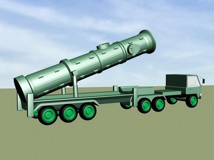 DF-21 Carrier Killer Missile 3d rendering