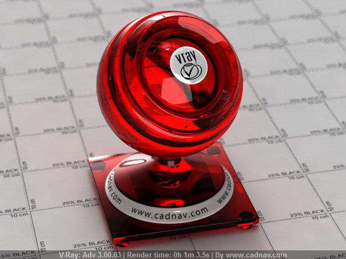 Antique Ruby Glass material rendering
