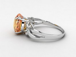 Yellow Topaz Ring 3d preview