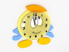 Cartoon Wall Clock 3d preview