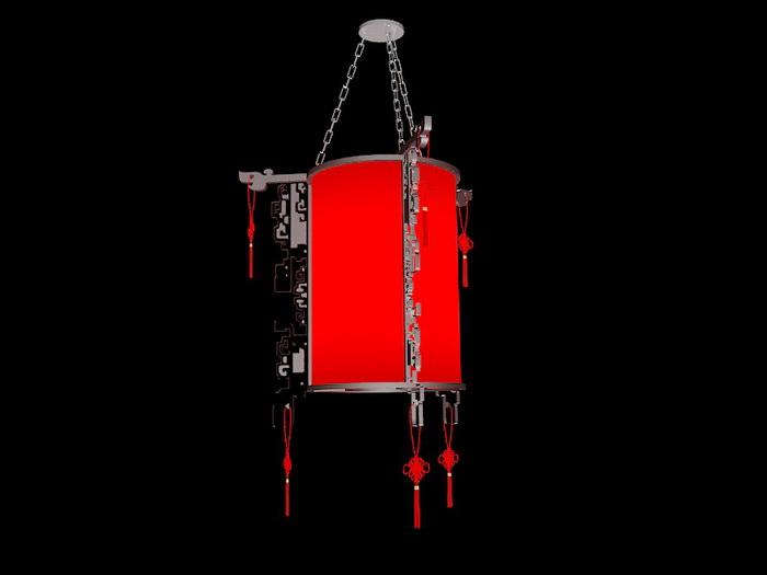 Oriental Lantern 3d rendering