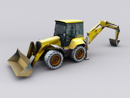 Construction Digger 3d preview