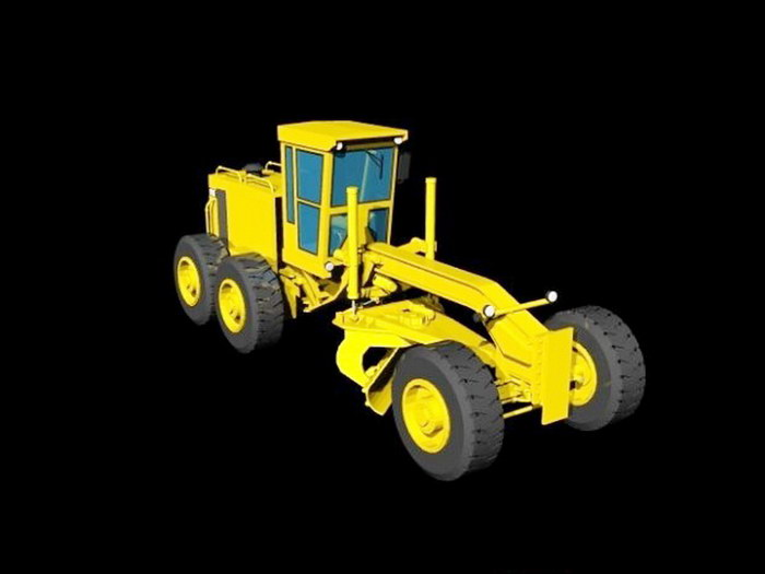 Cat 16G Grader 3d rendering