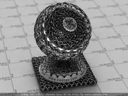 Chain Mail vray material