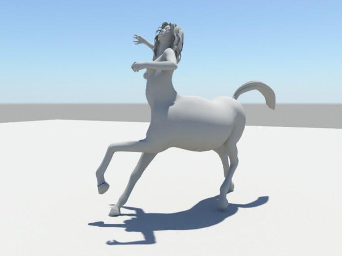 Female Centaur Statue 3d rendering