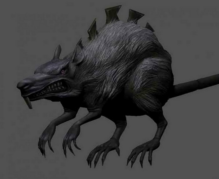 Mouse Monster Fantasy Creature 3d rendering