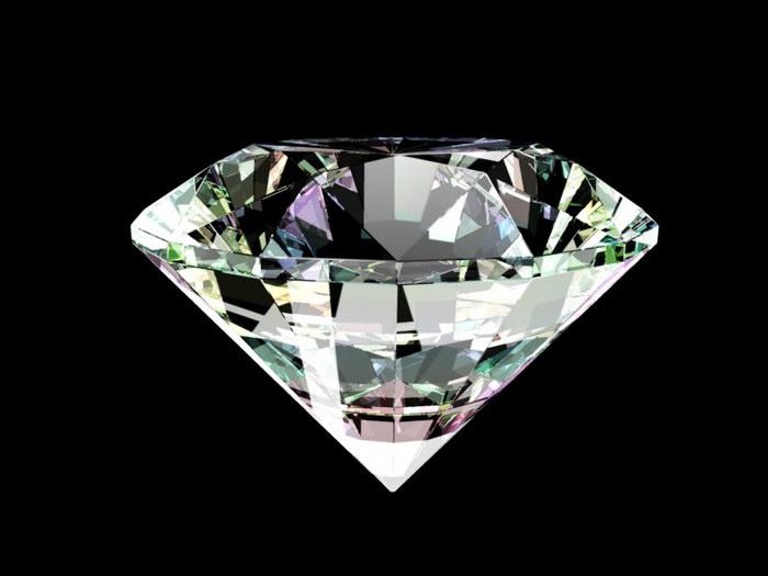 Clear Diamond 3d rendering
