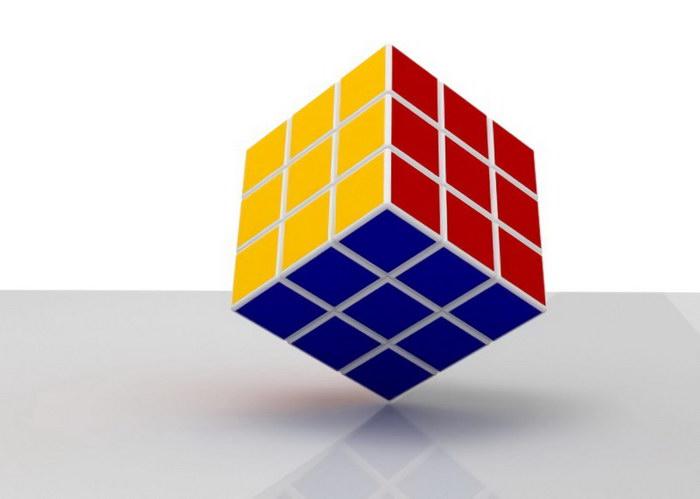 Rubik's Cube 3d rendering