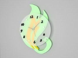 Modern Swan Wall Clock 3d preview