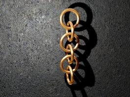 Antique Copper Chain 3d preview