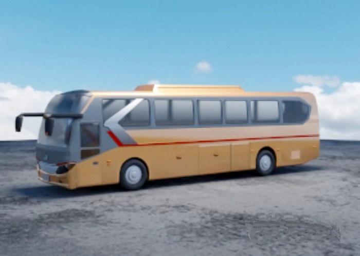 Intercity Coach Bus 3d rendering