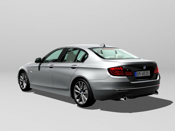 BMW 535i Executive Car 3d rendering