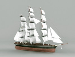 Clipper Ship Merchant Sailing Vessel 3d preview