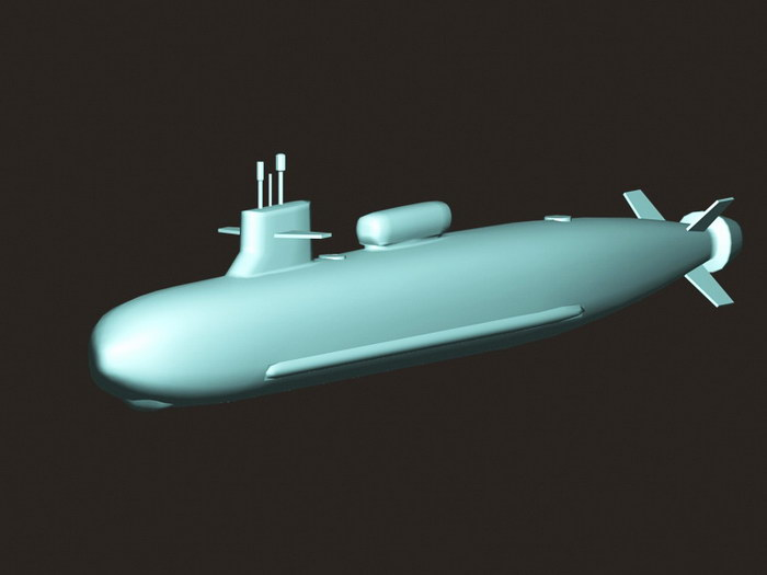 Type 095 Nuclear Submarine 3d rendering