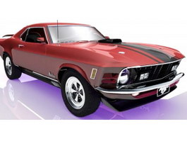 Ford Mustang Mach 1 Muscle Car 3d preview