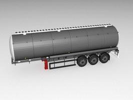 Oil Tank Truck Trailer 3d preview