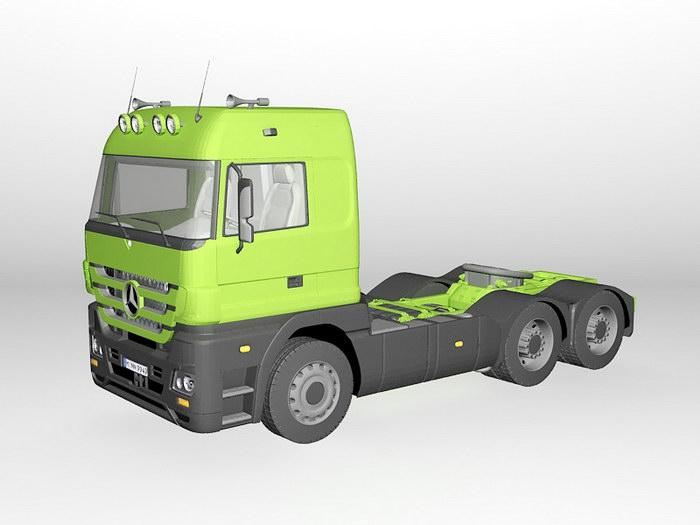 Semi-tractor Truck 3d rendering
