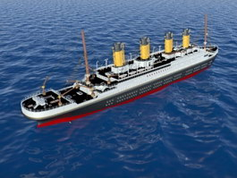 Titanic Passenger Liner Cruise Ship 3d preview