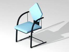 Blue Cantilever Chair 3d preview