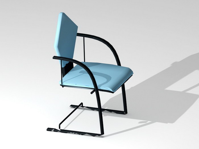 Blue Cantilever Chair 3d rendering