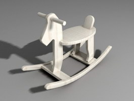Wood Rocking Horse 3d preview