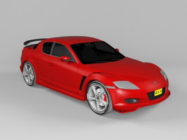 Red Mazda RX-8 3d preview