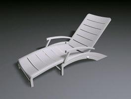 White Deckchair 3d preview