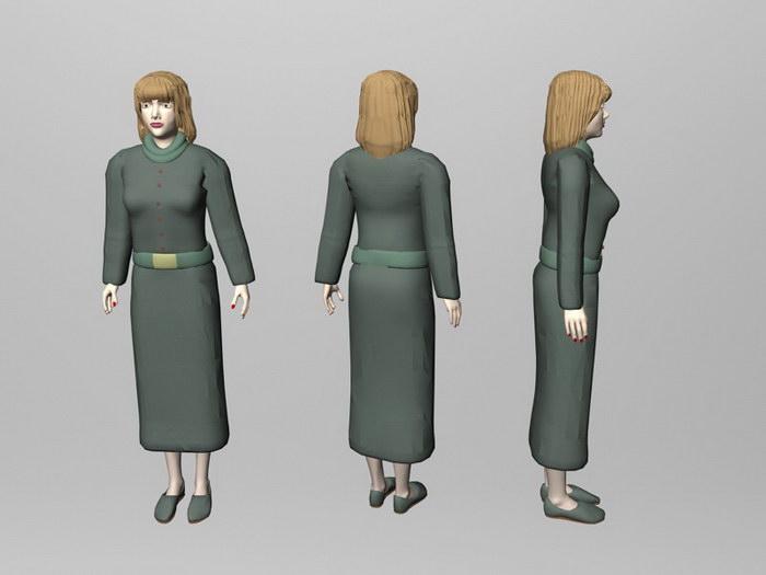 Female Teacher 3d rendering