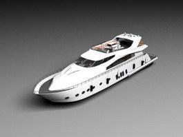 Cruiser Motor Yacht 3d preview