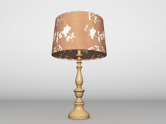 Traditional Table Lamp 3d rendering