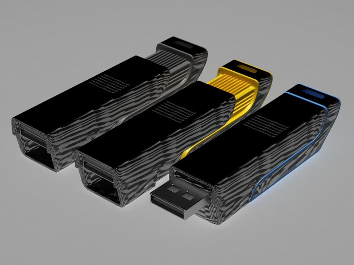 USB Flash Drive 3d rendering