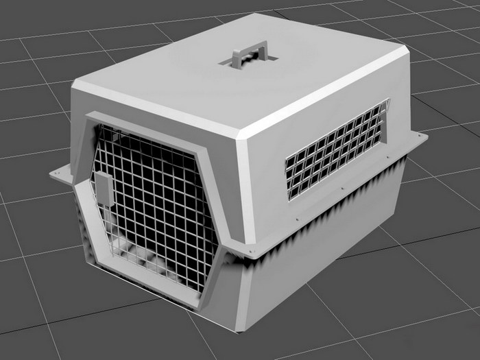 Dog Box Cage 3d rendering