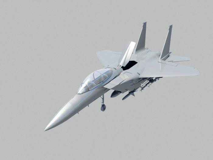 F-15 Eagle Fighter 3d rendering