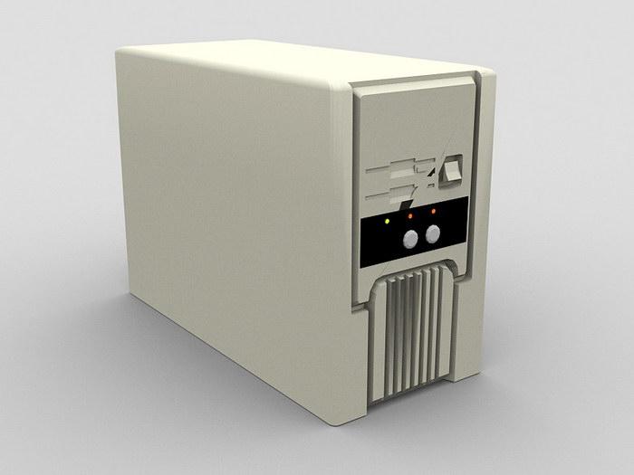 Antique Computer 3d rendering