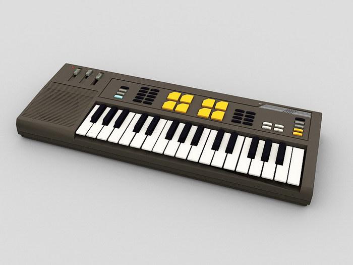 Electronic Keyboard 3d rendering