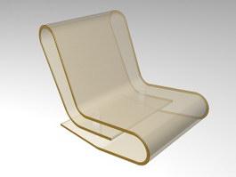 Transparent Acrylic Chair 3d preview