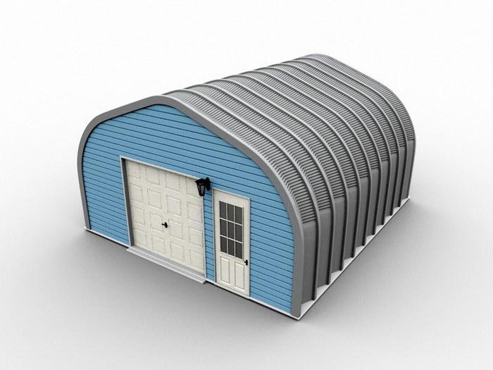 Industrial Warehouse Exterior 3d rendering