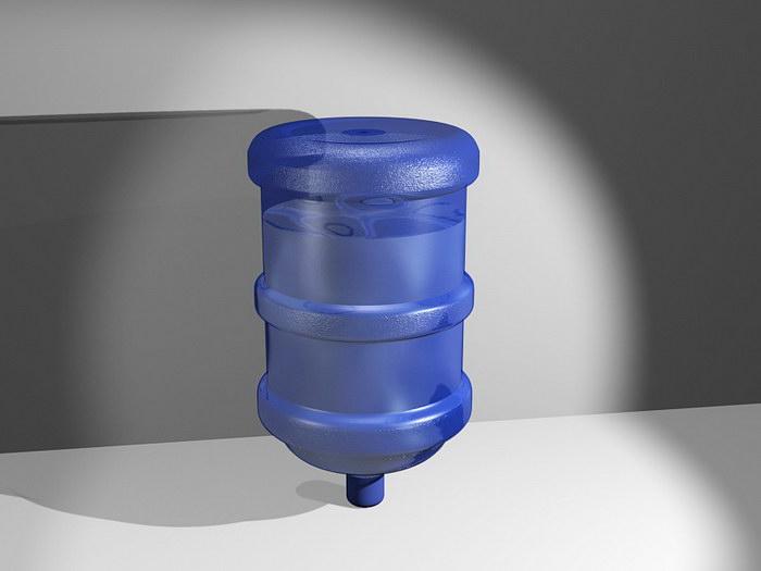 Water Dispenser Bottle 3d rendering