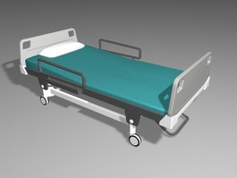 Modern Hospital Bed 3d preview